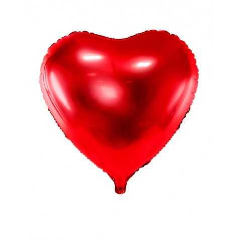 Ballon en forme de coeur rouge