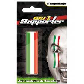 Maquillage vert blanc rouge Italie