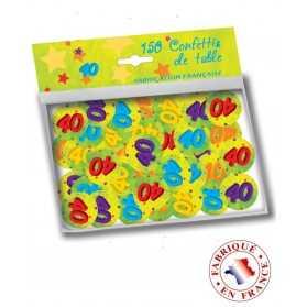 150 confettis de table 40 ans