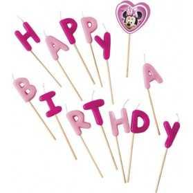 Bougies Happy Birthday Minnie