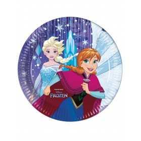8 Assiettes en carton La Reine des Neiges Frozen 23 cm