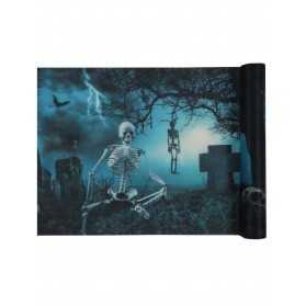 Chemin de table intissé Nuit d'Horreur 30 cm x 5 m