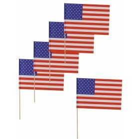 12 pics drapeaux USA 11x7,5 cm