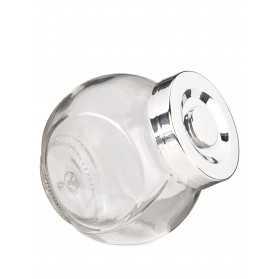 Petit pot en verre avec couvercle 8cm
