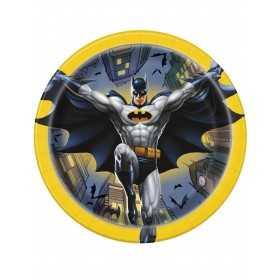 8 Petites assiettes en carton Batman 18 cm