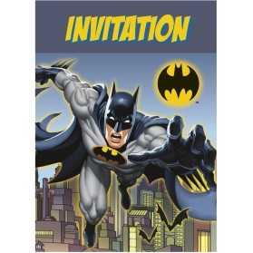 8 Cartes d'invitation Batman