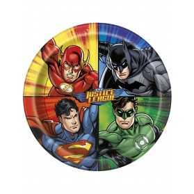 Assiettes gouter anniversaire Justice League