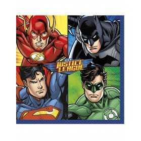 8 Petites assiettes en carton Justice League 18 cm