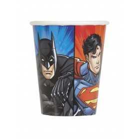 8 Gobelets en carton Justice League 25 cl