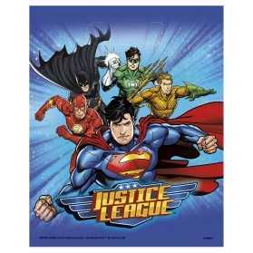 8 Sacs de fête Justice League 18 x 23 cm