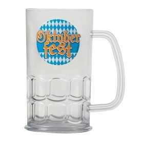 Chope de bière transparente 14 cm Fête de la bière