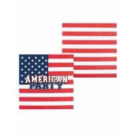 12 Serviettes en papier American party 33 x 33 cm