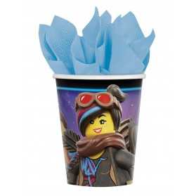 8 Gobelets en carton La grande Aventure Lego 2 266 ml