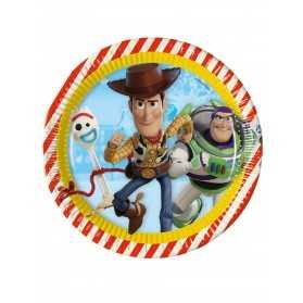 8 Assiettes en carton Toy Story 4 23 cm