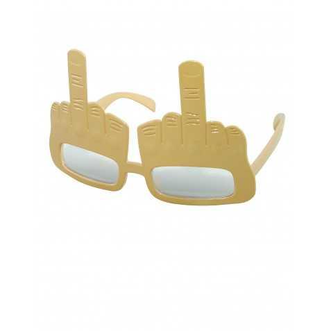 Lunettes doigt d'honneur dorées adulte