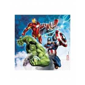 Serviettes en papier compostable Avengers
