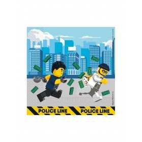 20 Serviettes en papier FSC® Lego City 33 x 33 cm