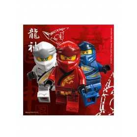 20 Serviettes en papier FSC® Lego Ninjago 33 x 33 cm