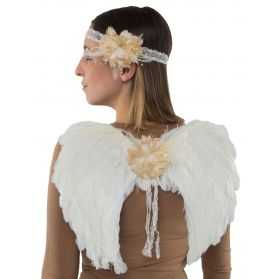 Ailes d'Ange Blanches à plumes