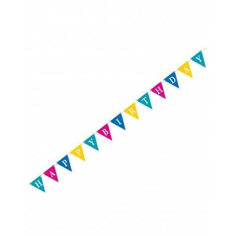 Guirlande Happy birthday fanions