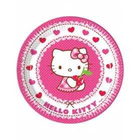 8 Assiettes en carton Hello Kitty 23 cm