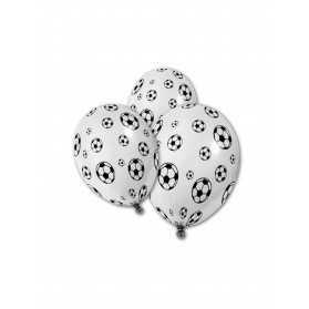 5 Ballons en latex Ballons de foot 30 cm