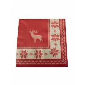 12 Serviettes en papier intissé Premium Chalet de montagne 40 x 40 cm