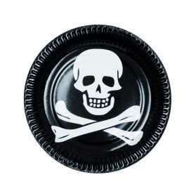 Assiettes carton Tête de Mort