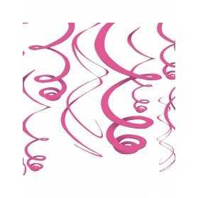décorations roses à suspendre