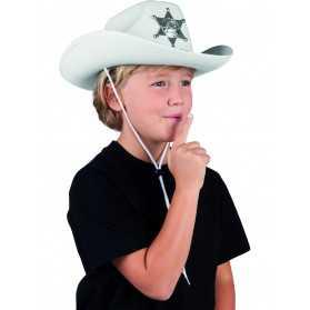 Chapeau shérif blanc enfant