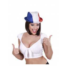 Chapeau bleu blanc rouge supporter