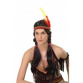 Perruque longue indienne femme