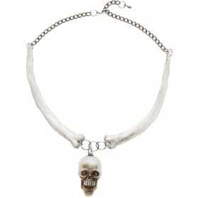 Collier téte de mort adulte Halloween