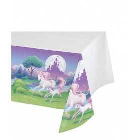 Nappe en plastique Licorne magique 130 x 260 cm