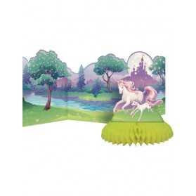 Centre de table en carton Licorne magique 30 x 69 cm