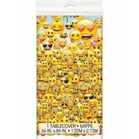 Nappe plastique 1,37m x 2,13m Emoji