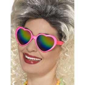 Lunettes coeur avec verres multicolore femme
