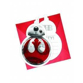 Cartes invitations anniversaire Star Wars