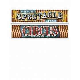 2 Banderoles Vintage Cirque