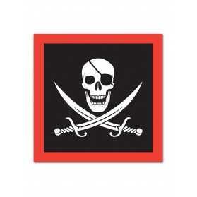 Serviettes en papier thème Pirate