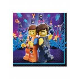 16 Serviettes en papier La Grande Aventure Lego 2 33 x 33 cm