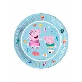 8 Assiettes en carton compostable Peppa Pig 23 cm