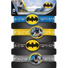 4 Bracelets élastiques Batman