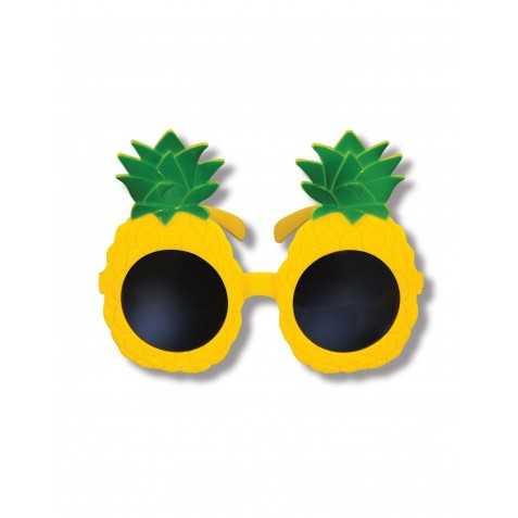 Lunettes ananas jaunes adulte