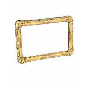 Cadre photo gonflable doré 80 x 60 cm