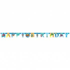 Guirlande lettres en papier Happy Birthday Top Wing 218 x 12 cm