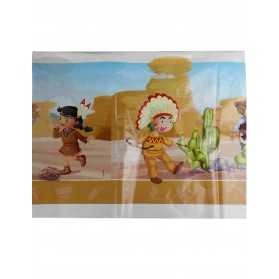 Nappe en plastique Cowboy et Indien 130 x 180 cm