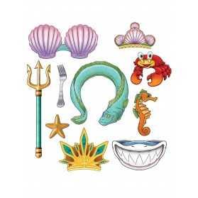 Kit photobooth princesse sirène 10 accessoires