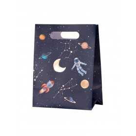 4 Sacs cadeaux en carton astronaute 20 x 15 x 9 cm