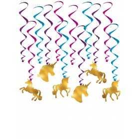 12 Décorations à suspendre Licornes